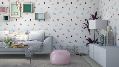 Pastel living - Living room  - by meggle