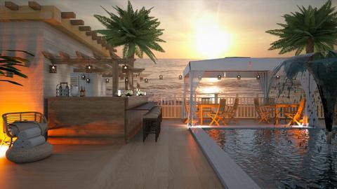 Beachfront Restaurant - by Feeny