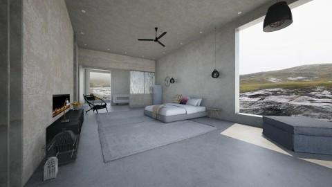 minimalistic - Modern - Bedroom  - by Evangeline_The_Unicorn