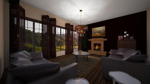 Woodsy - Masculine - Living room  - by emivim