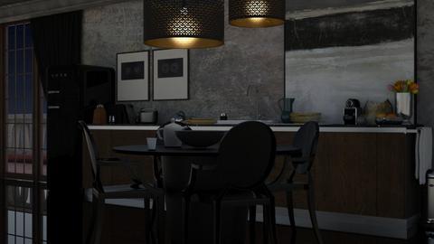 Black Kitchen - Modern - Kitchen  - by HenkRetro1960