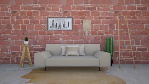 Rustic Living Space - Rustic - Living room  - by kbaj