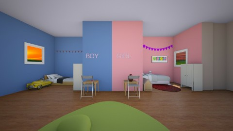 kids room - Classic - Bedroom - by lilach26