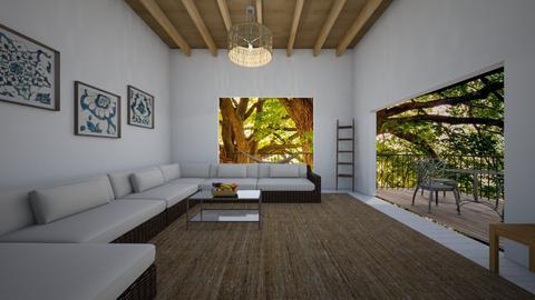 sala de estar na floresta - Living room  - by alicia vieira