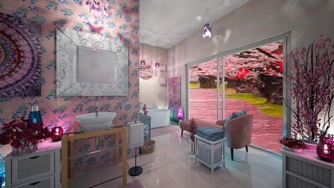 Cherry Blossom Bathroom - Bathroom  - by Moonpearl