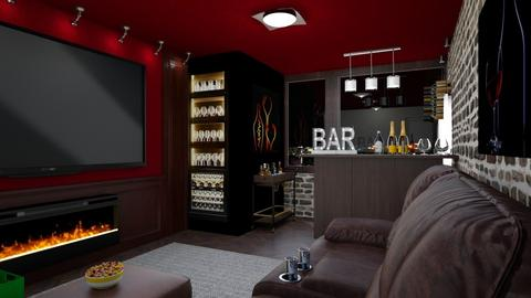House Bar - Living room - by yonvie