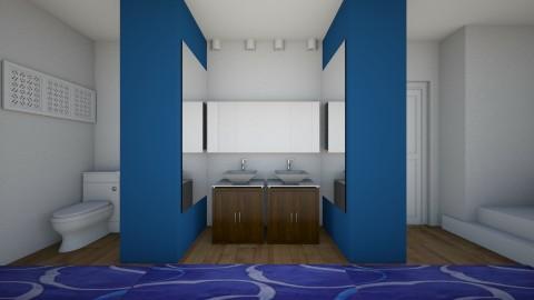 Blue bathroom 1 - Minimal - Bathroom  - by abbyt94