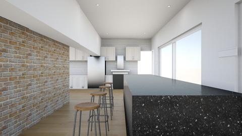 K6 white island - Minimal - Kitchen - by ddillard1