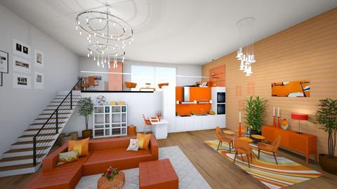 White_Orange_Apartment - by MyDesignIdeas