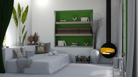 Sage - Bedroom  - by KittyKat28