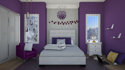 Queen Bed Room by Uroosa - Retro - Bedroom  - by Uroosa Bint E Haroon