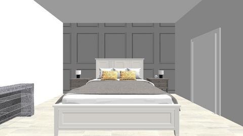 yellow bedroom - Rustic - Bedroom  - by des2020