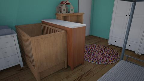 Kinderkamer bunk raam - Minimal - Kids room  - by tinegregoor
