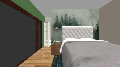 Bedroom Forest Theme - Rustic - Bedroom  - by Andreea Lazarut