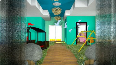 Children Hospital Jungle  - Kids room  - by Darcy Tooka Dunham