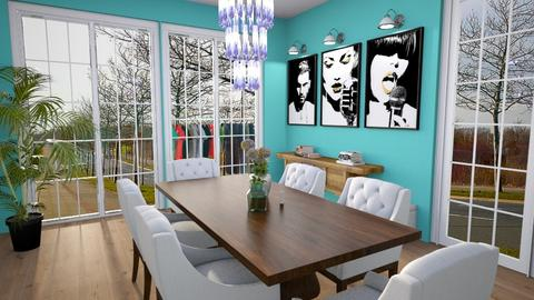 euphoria - Dining room  - by sonakshirawat175