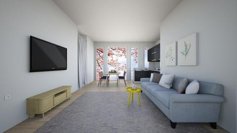 Townhouse - Minimal - Living room  - by Muffin_yday
