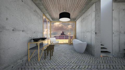 minimalistic design - Modern - Bathroom  - by Evangeline_The_Unicorn