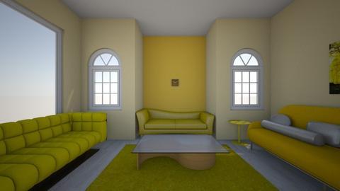 Yellow living room - Living room  - by Alyssa129