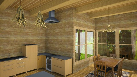 Cabin Kitchen - Rustic - Kitchen  - by DiamondJ569