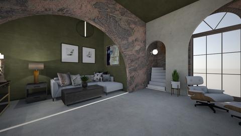 STUCCO  - Living room  - by Georgiaandres