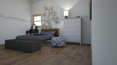Gray themed - Minimal - Bedroom  - by Kim miss