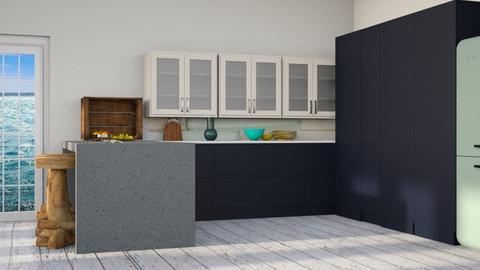 Ocean Kitchen - Modern - Kitchen  - by CitrusSunrise