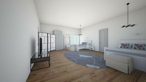 hotel - Minimal - Bedroom  - by eszterke120