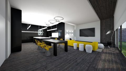 yellow - Kitchen  - by Kynoks
