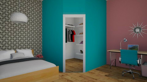 Retro Teenage Room - Retro - Bedroom  - by JazzyAllen