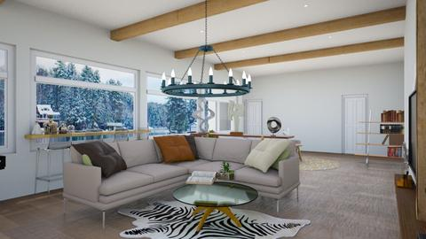 lake view family room1 - Modern - by Sharon Lian
