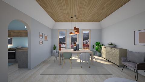 Scandinavian dining room - Dining room  - by Niva T