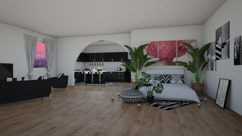bw Lux studio apartment  - Modern - by Pheebs09