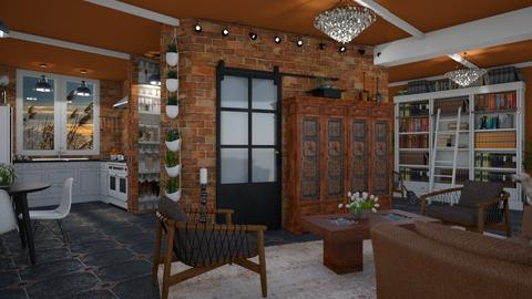 Design 425 Living Room Kitchen in Rust - Kitchen  - by Daisy320