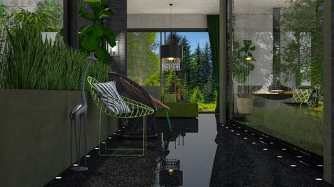 urban jungle hallway - by intdeson