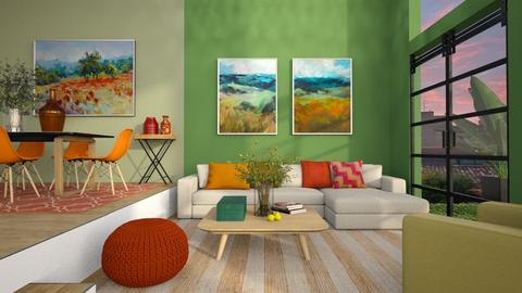 India Color Palette - Living room  - by MiaM