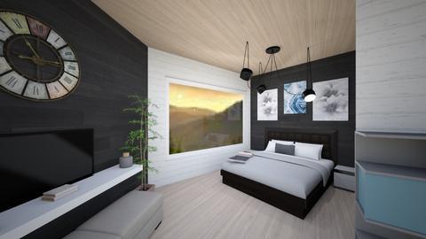 BandW Minimalist Bedroom - Minimal - Bedroom  - by LucasMucus