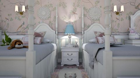 Twin Room Close Up 1B - Kids room  - by Fofinha