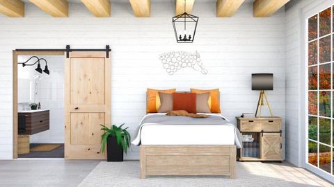 Farmhouse Autumn Bedroom - Bedroom  - by lyrikkah