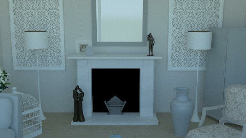 LeBeauSalonBlanc - IRAY - Glamour - Living room  - by camilla_saurus
