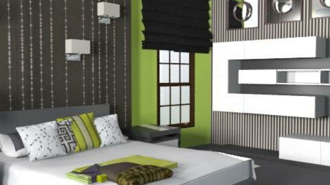 lime & Black - Eclectic - Bedroom  - by shelleycanuck