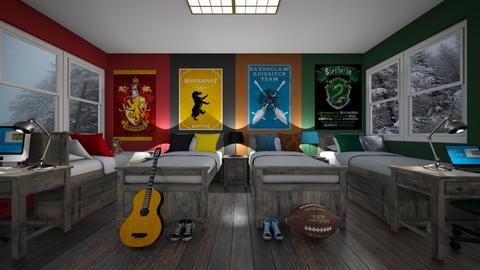 Quadruplets Bedroom - Bedroom - by SammyJPili