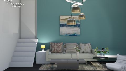 earthy minimalist hallway - by tiana24