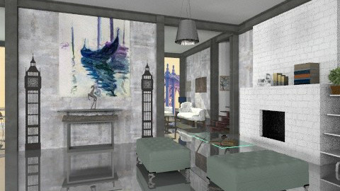 fabric - Modern - Living room  - by bluevioletspoprock