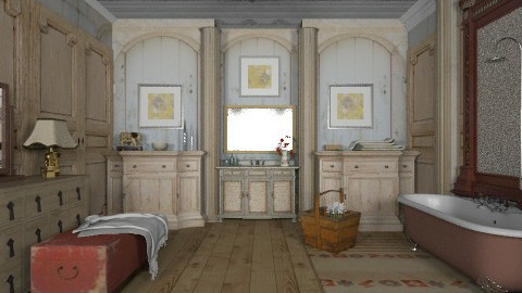 antique  setusrtu - Rustic - Bathroom  - by panasobeaver