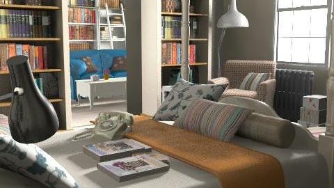 bed - Rustic - Bedroom  - by dadina22