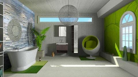 Green Tea - Modern - Bathroom  - by Nicky West