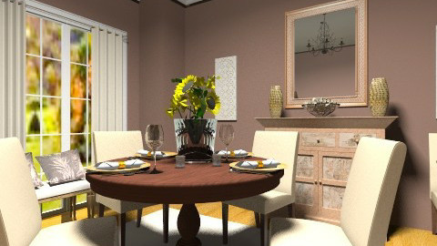 autumn - Dining room - by sunlove