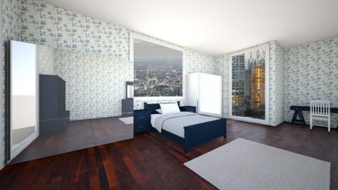 Navy Girls Bedroom - Modern - Bedroom  - by P_C