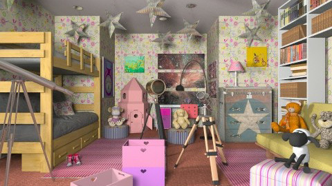 Science girls - Modern - Kids room  - by Luisy
